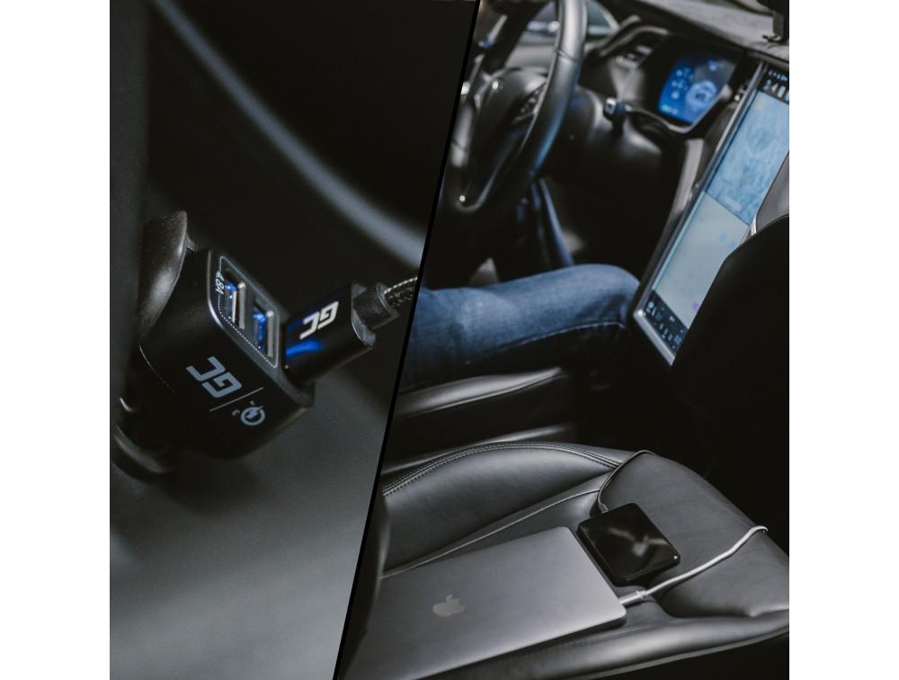 Green Cell Ładowarka Samochodowa 3xUSB z Szybkim Ładowaniem Quick Charge 3.0